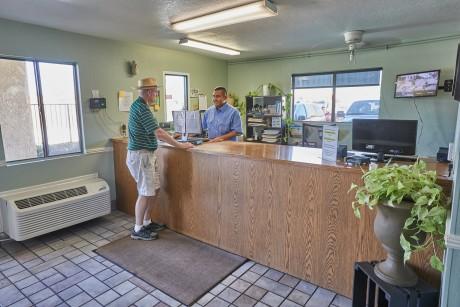 Welcome To EZ8 Palmdale Motel - Reception Desk
